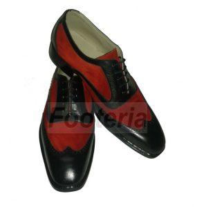 Handmade Men Wingtip Shoes, Leather